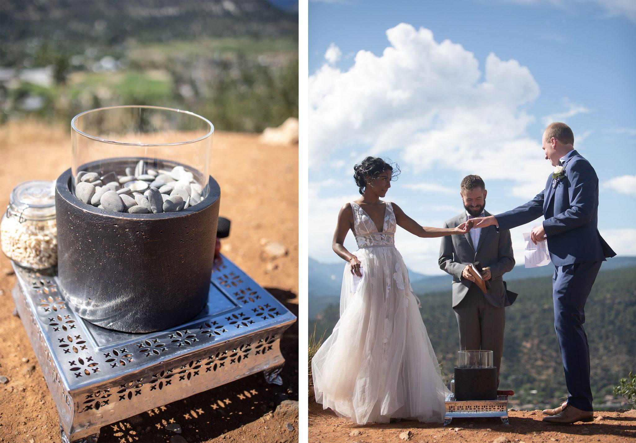 Wedding ceremony in Durango, Colorado