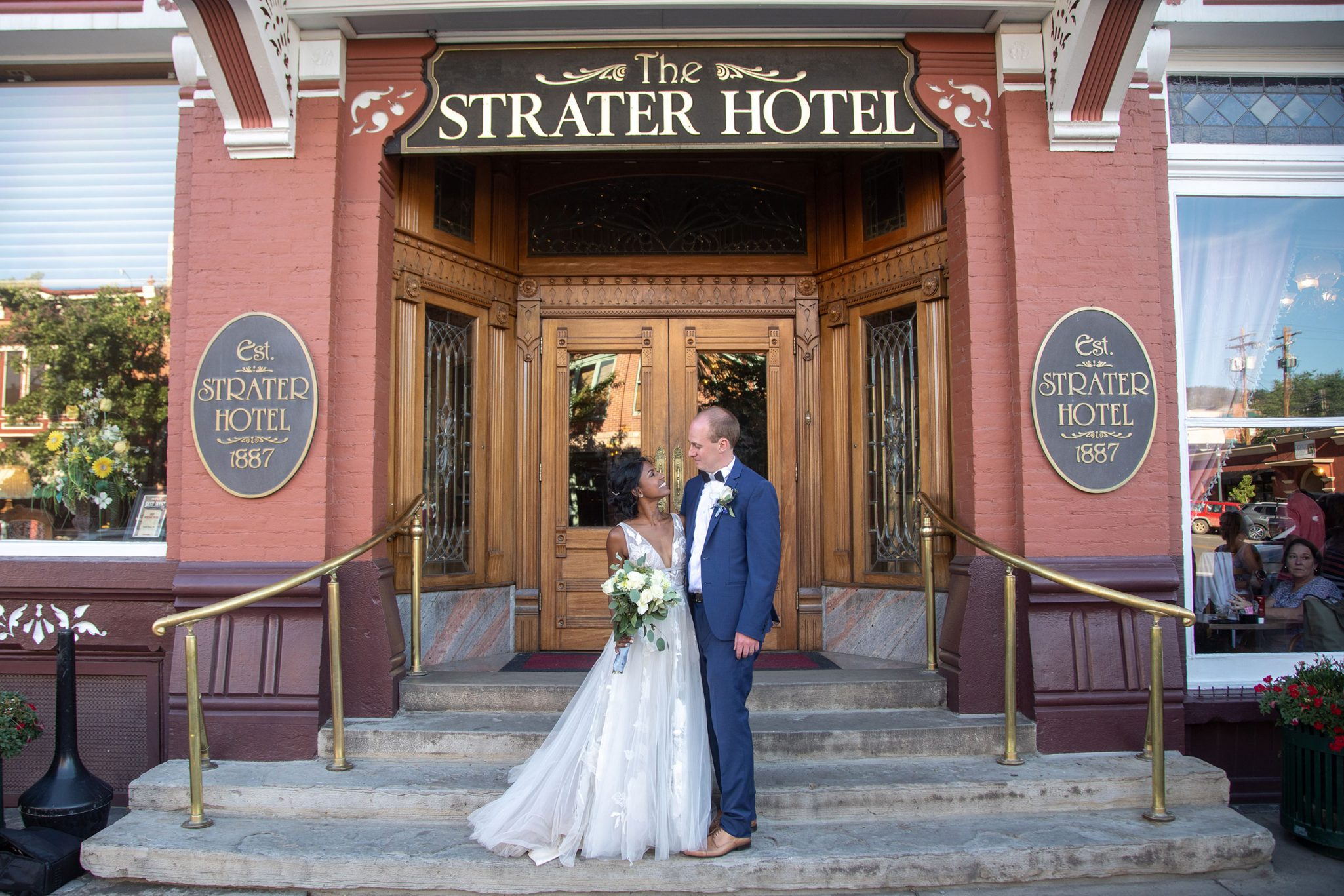 Bride & Groom at the Strater Hotel in downtown Durango, Colorado