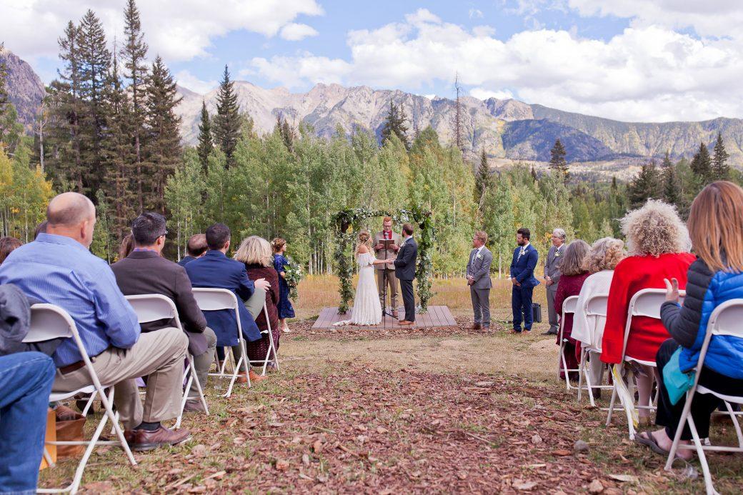 Ceremony at Cascade Village, Durango Colorado