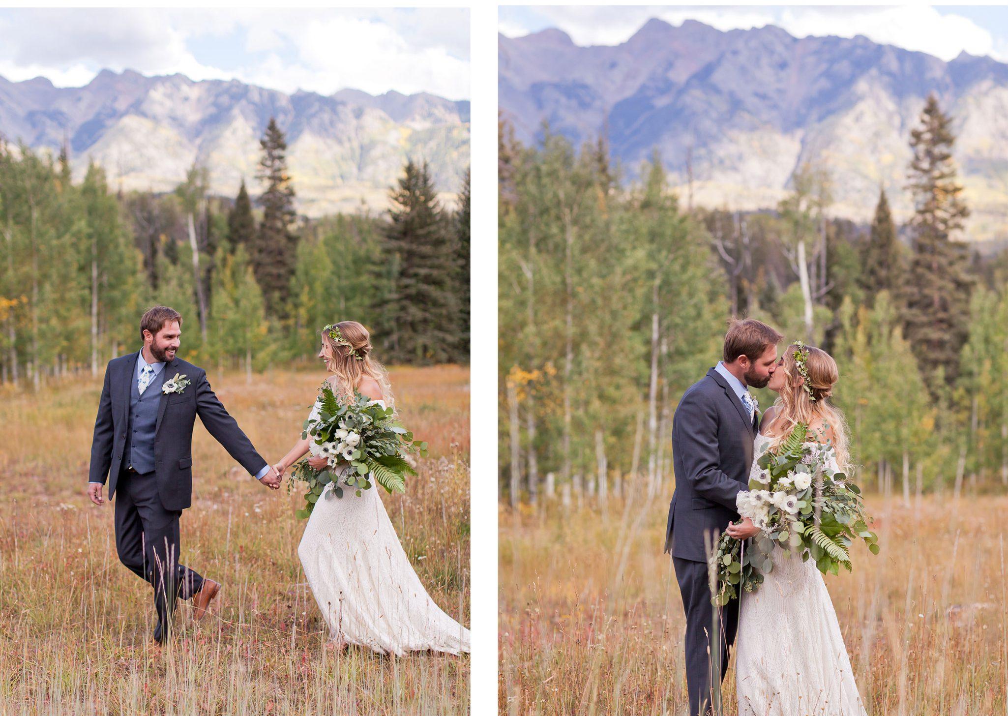 Bride & Groom in the San Juan Mountains, Colorado