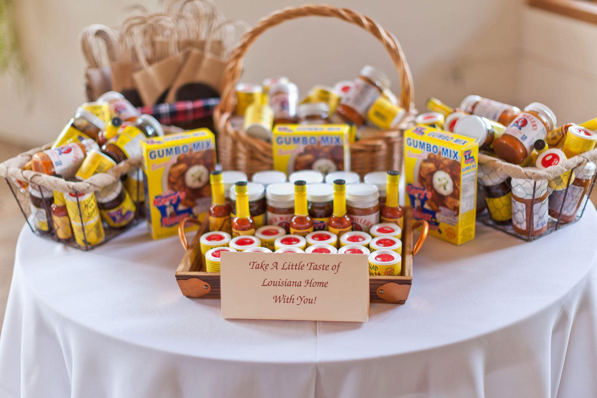 Wedding favors with Louisiana flavor