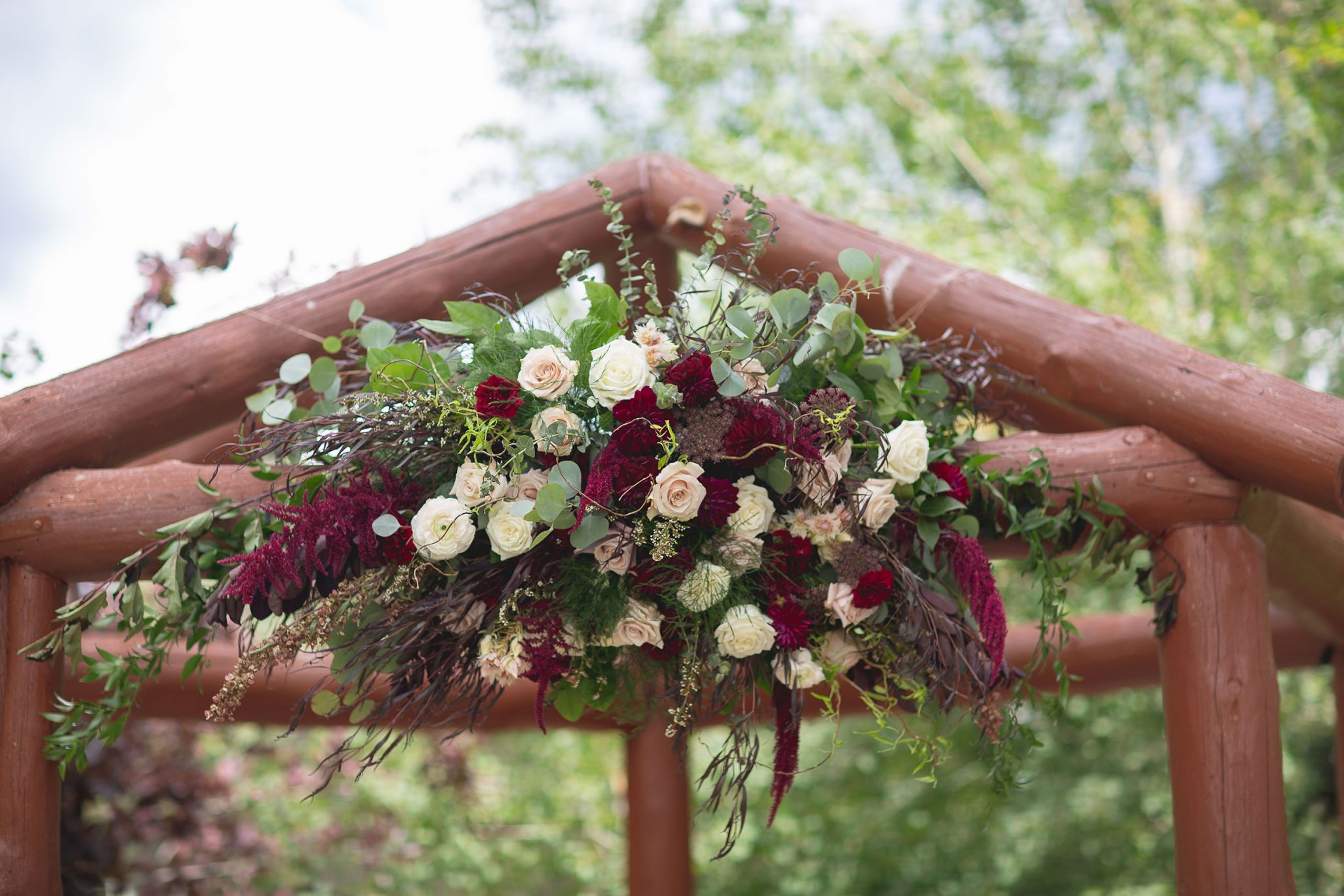 Ceremony flowers by April's Garden Weddings