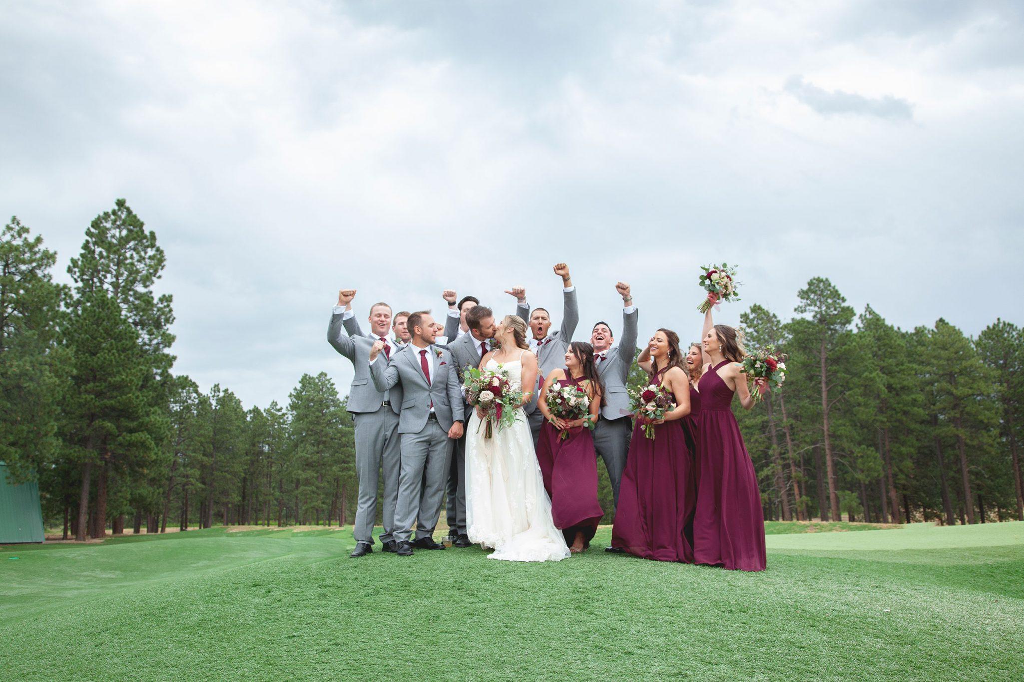 Wedding party at Echo Basin Ranch, Colorado