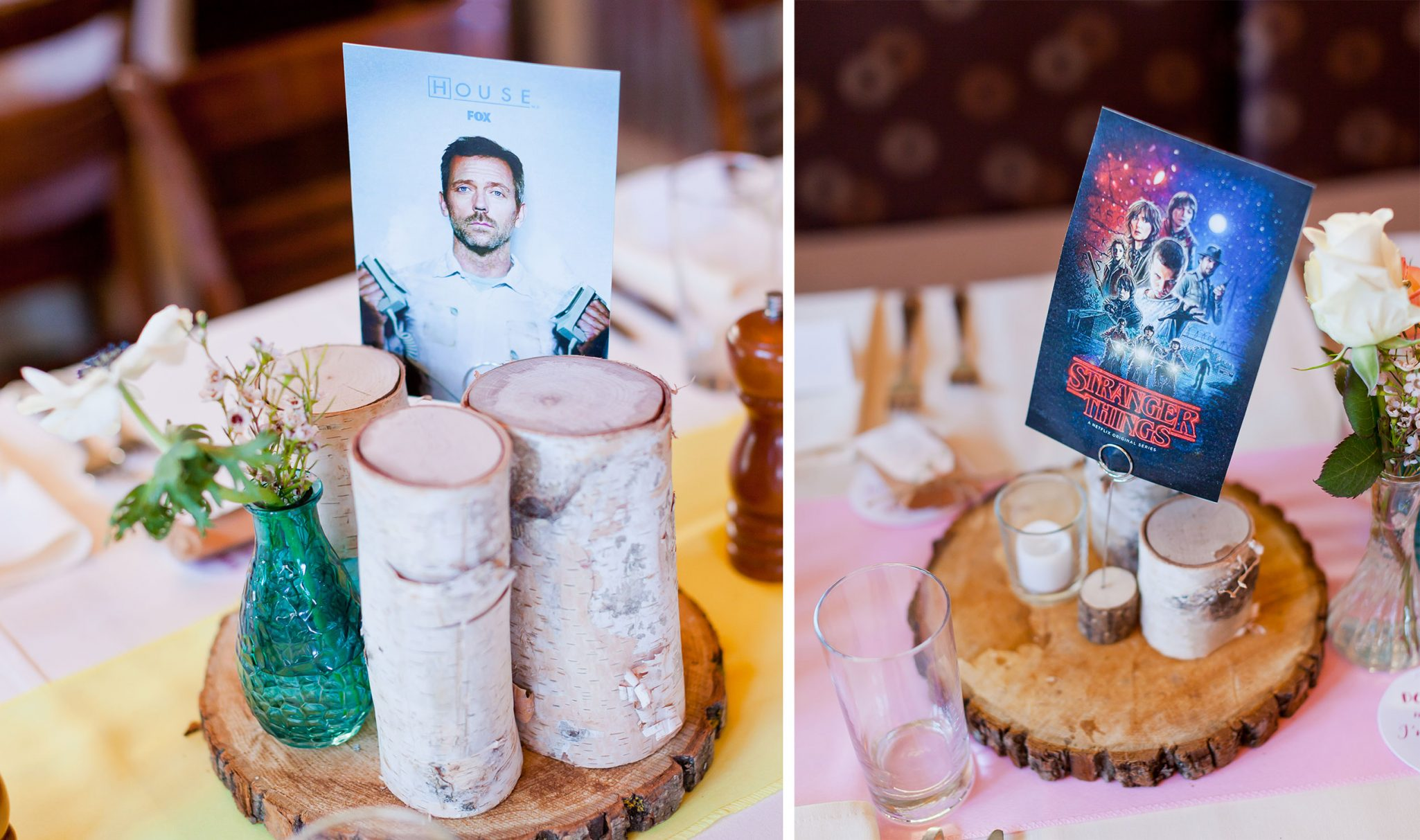 Tables named after fave TV shows