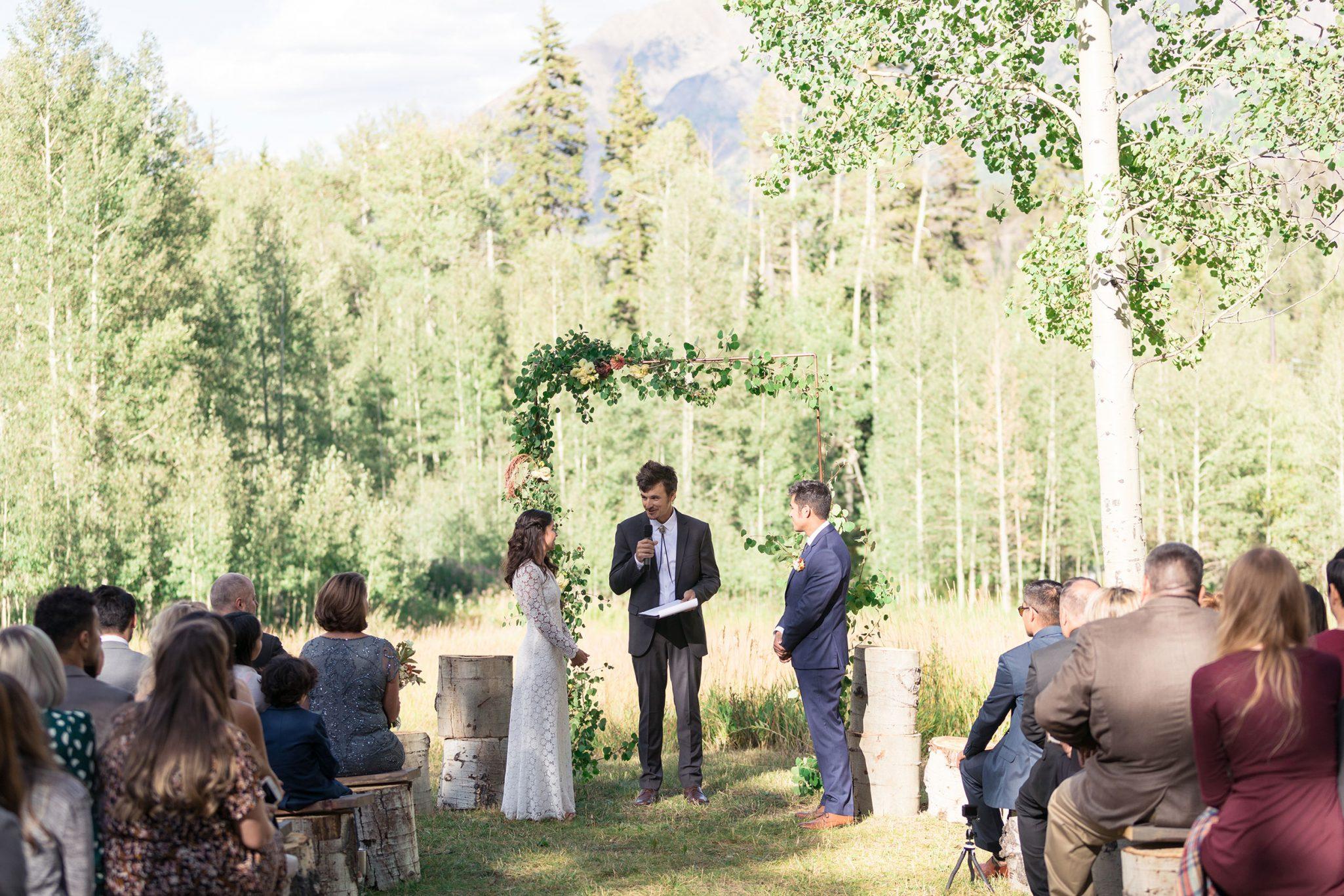 Mountain Ceremony at Silverpick Lodge, Durango, Colorado