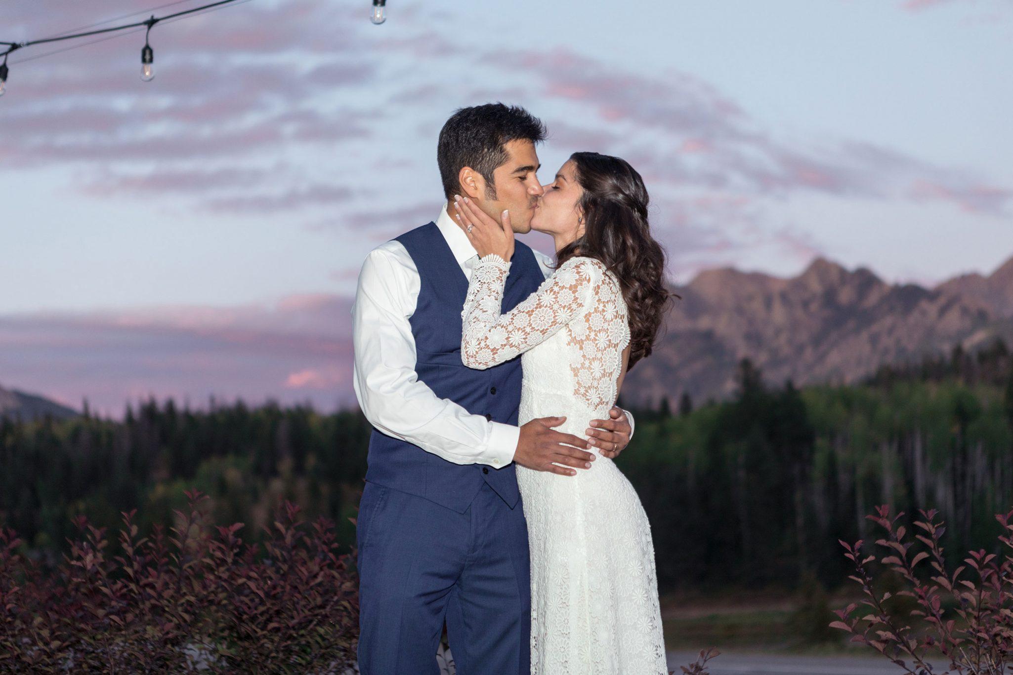 Bride & Groom in San Juan Mountains, Colorado