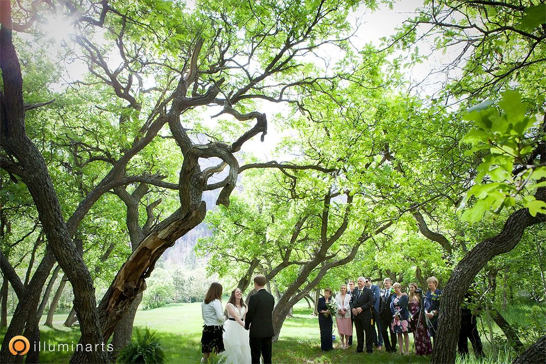 Wedding ceremony with Southwest Ceremony + illuminarts