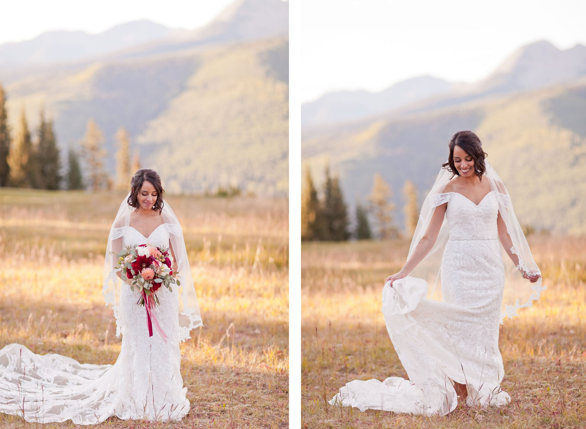 Bride at Purgatory Resort, Durango Colorado