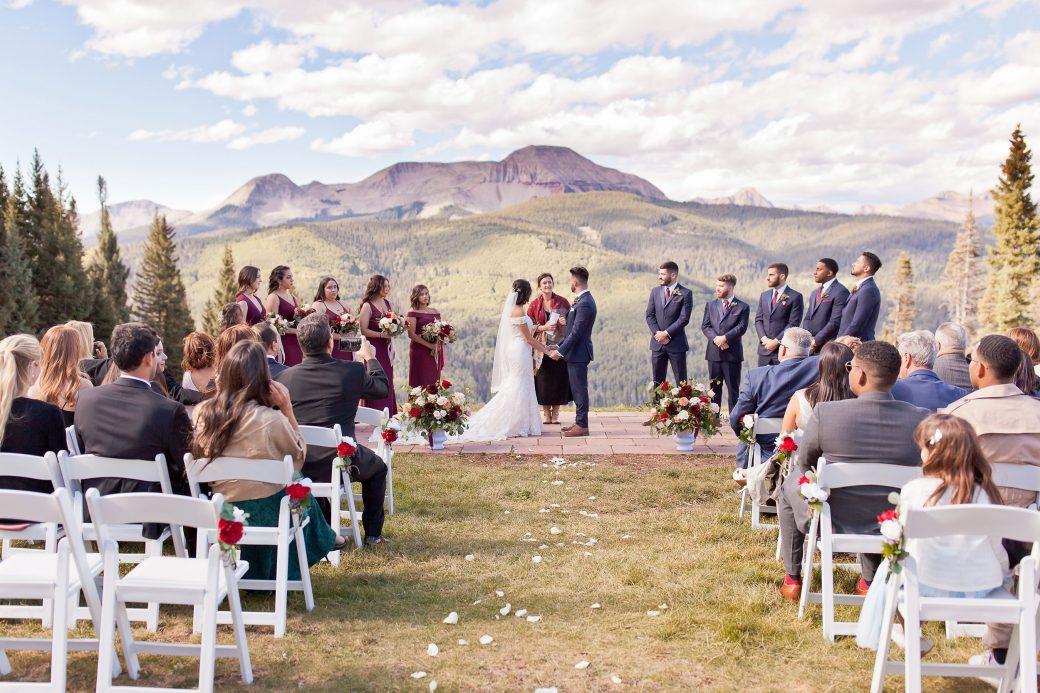 Mountaintop ceremony at Purgatory Resort, Durango Colorado