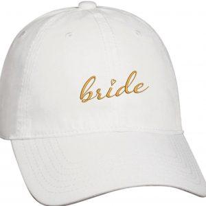 embroidered bride baseball hat
