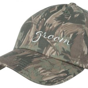 embroidered groom Camo baseball caps