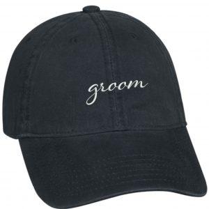 embroidered groom baseball hat