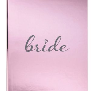 Metallic pink bride journal