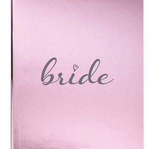 Metallic pink bride journal