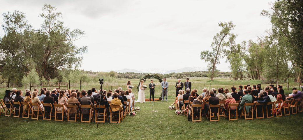Outdoor ceremony at Ridgewood Event Center, Durango CO