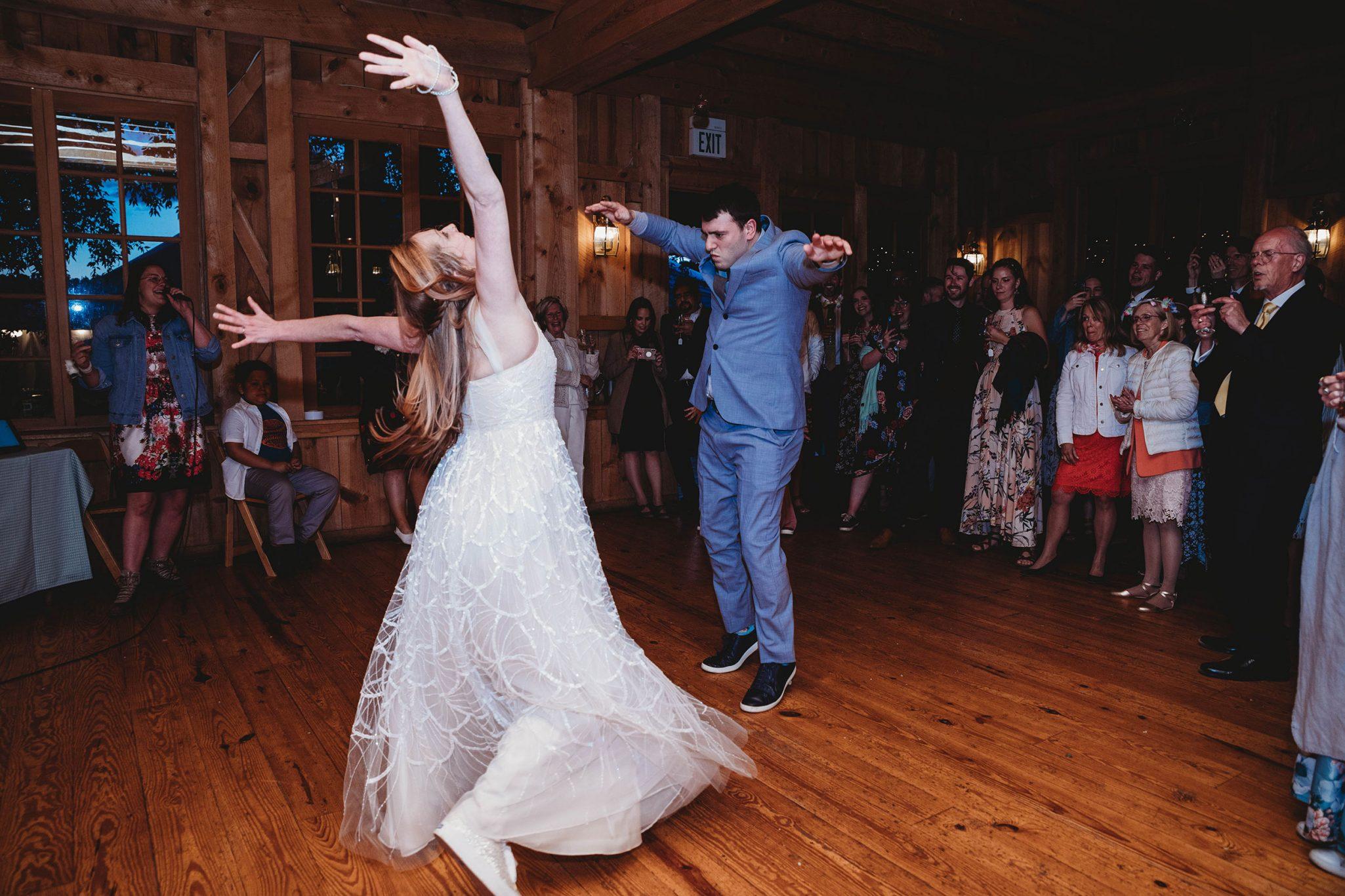 Wedding reception fun