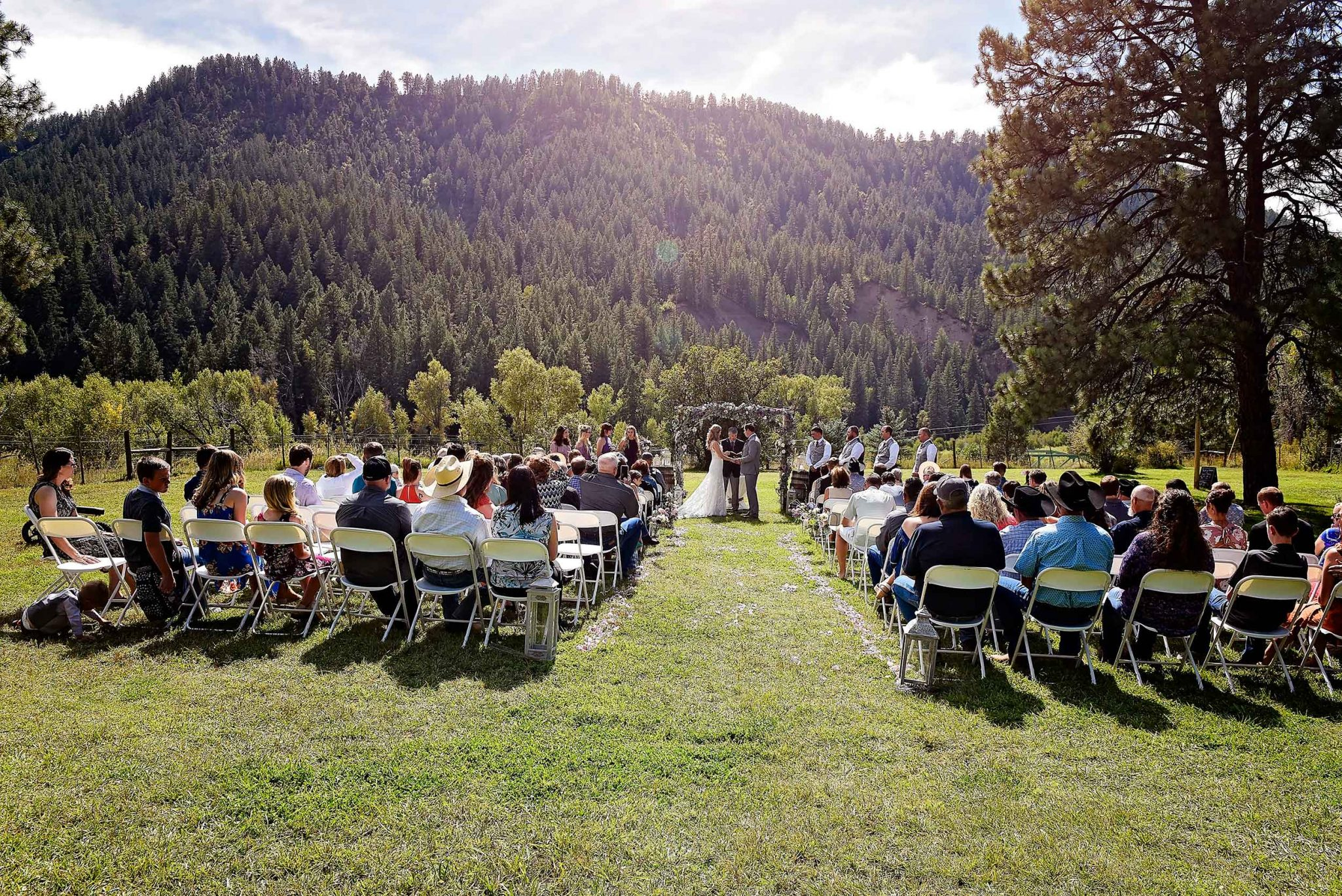 Outdoor ceremony at Paradise Ranch