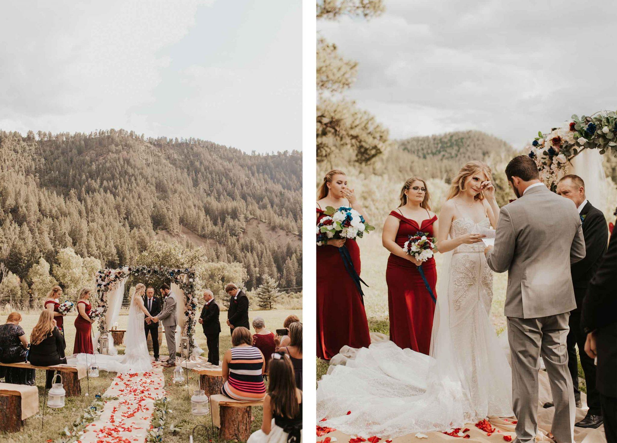 Outdoor Colorado ranch ceremony