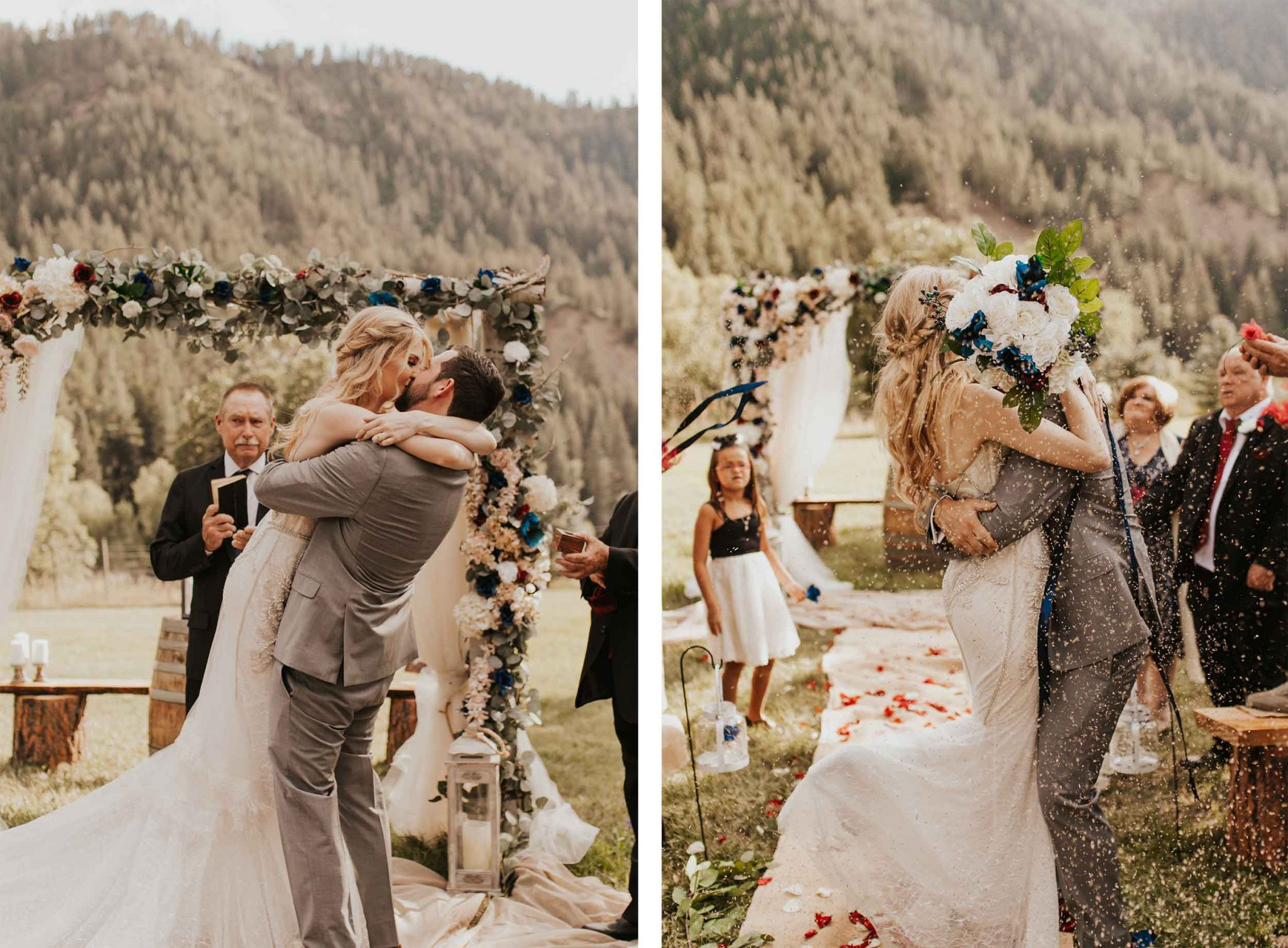 Newly married in Pagosa Springs, Colorado