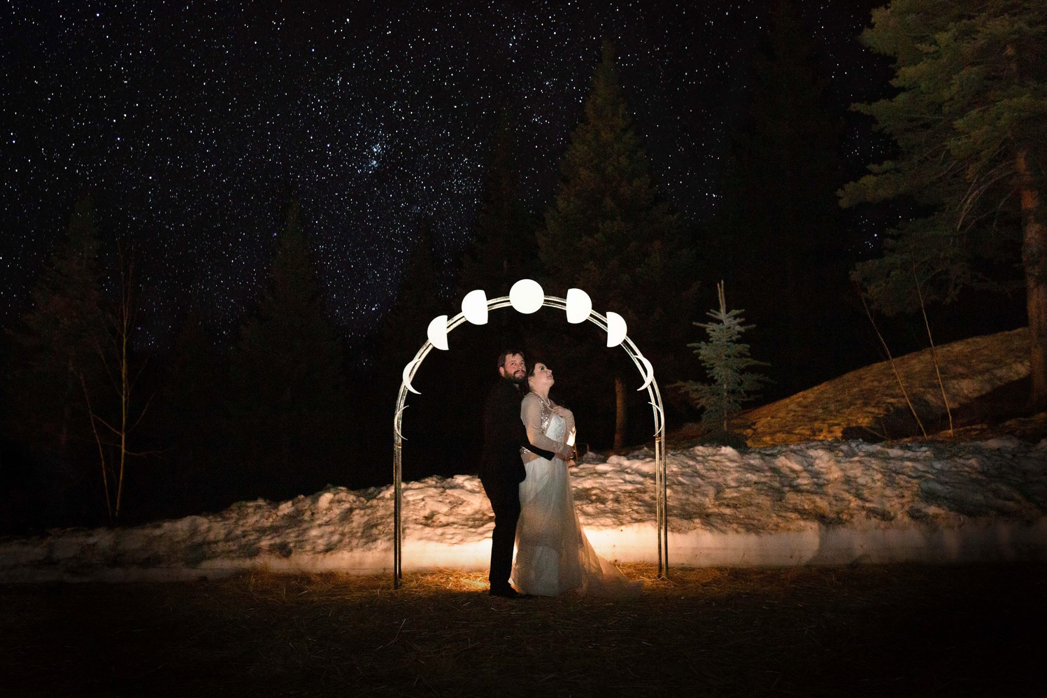 I love you to the moon and back wedding in Durango Colorado