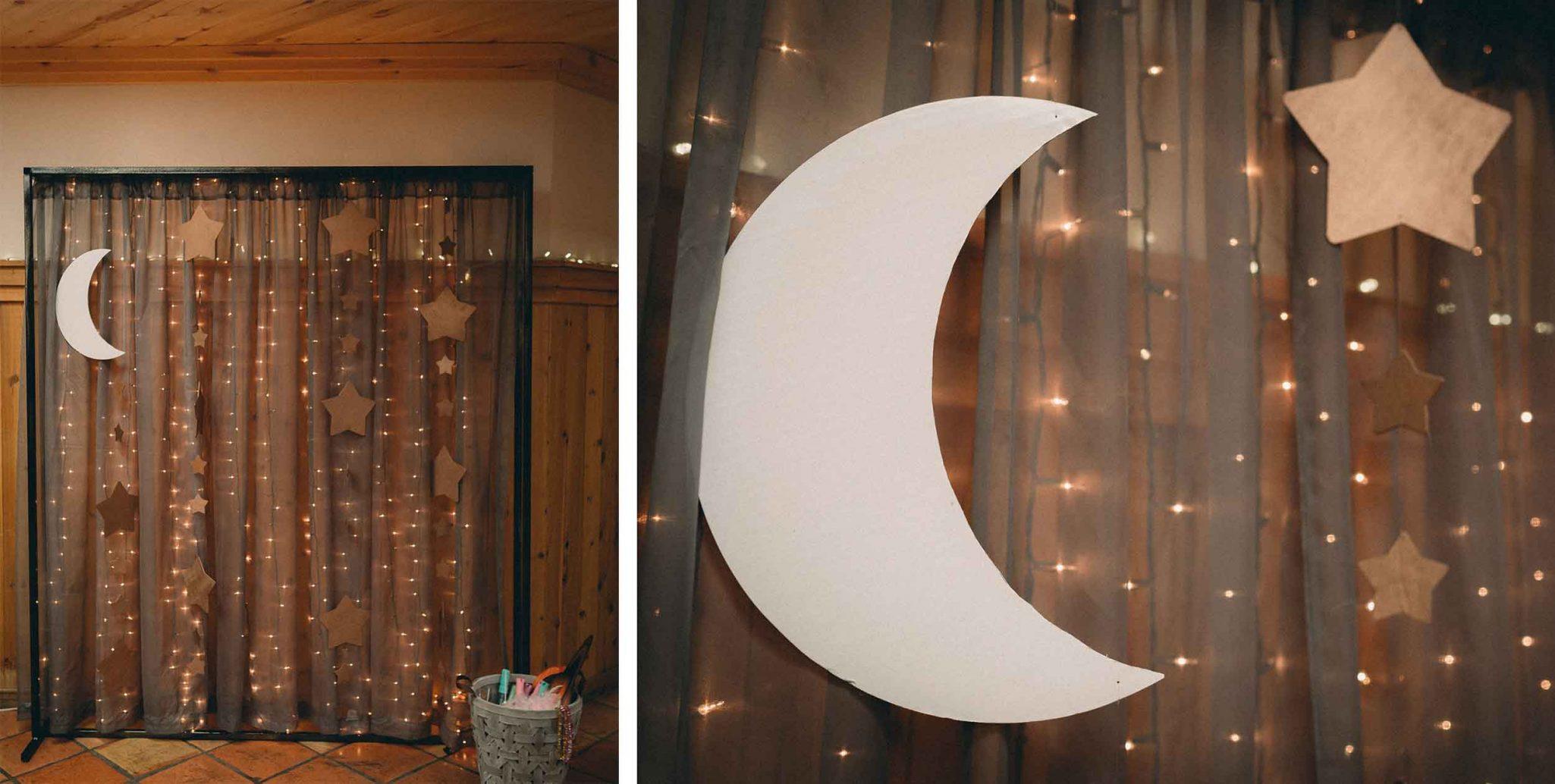 Moon and stars photo backdrop
