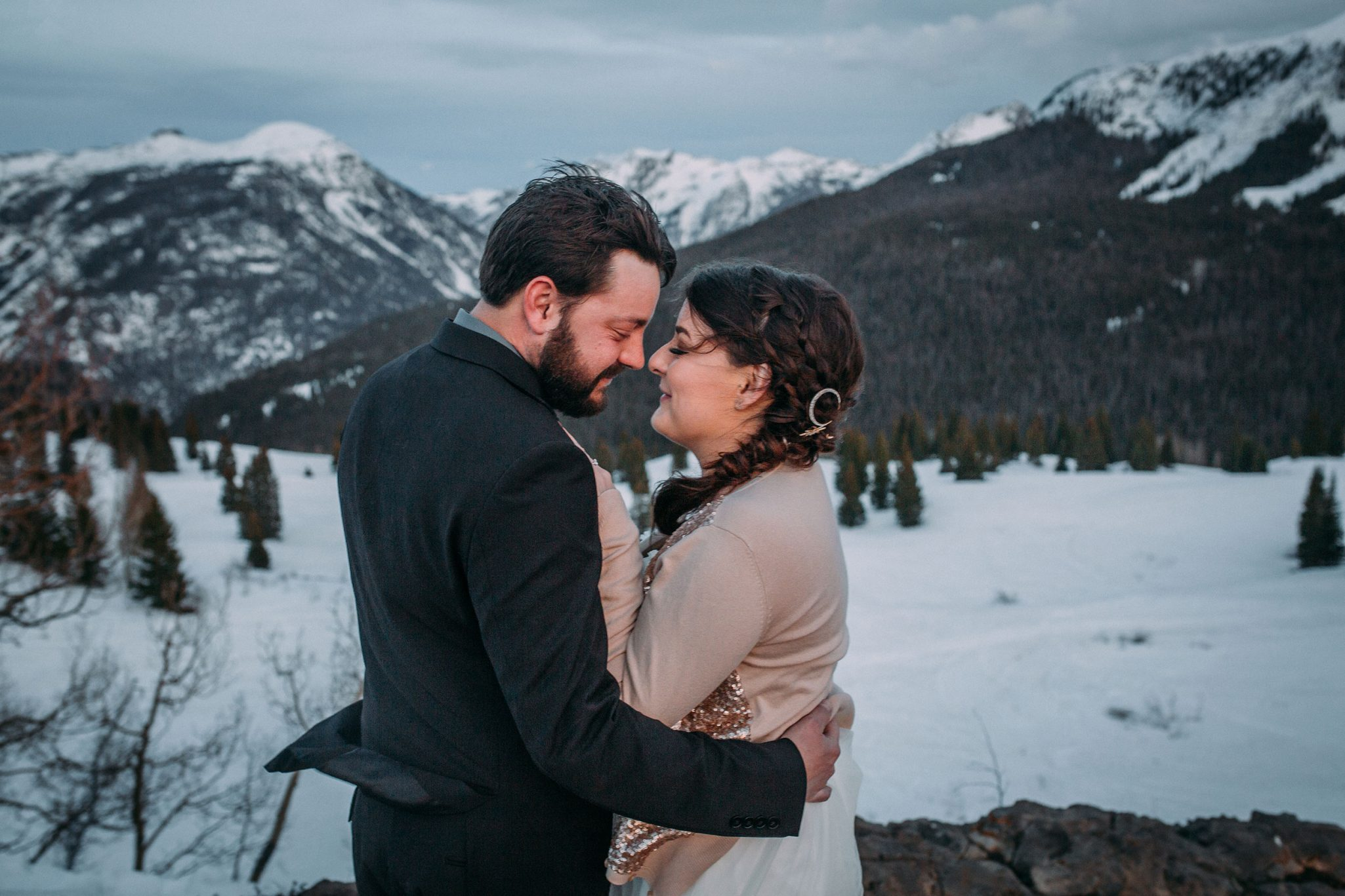 Early Spring wedding in Durango, Colorado