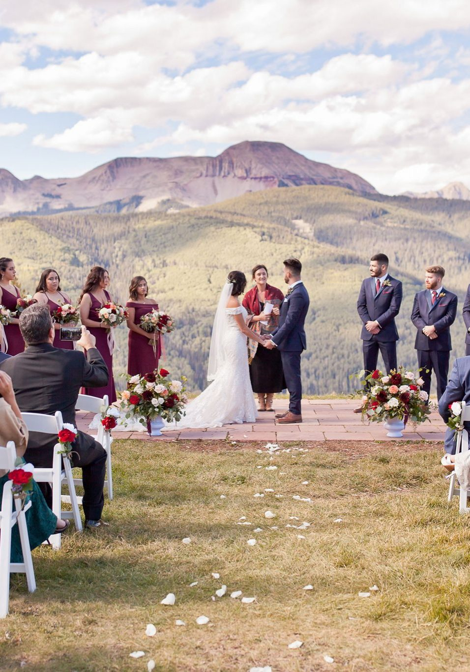 Mountaintop ceremony at Purgatory Resort, Durango Colorado
