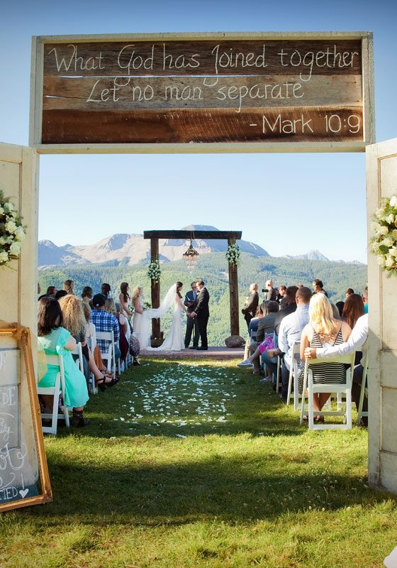 A Glamour Meets Rustic Wedding on Durango Mountain