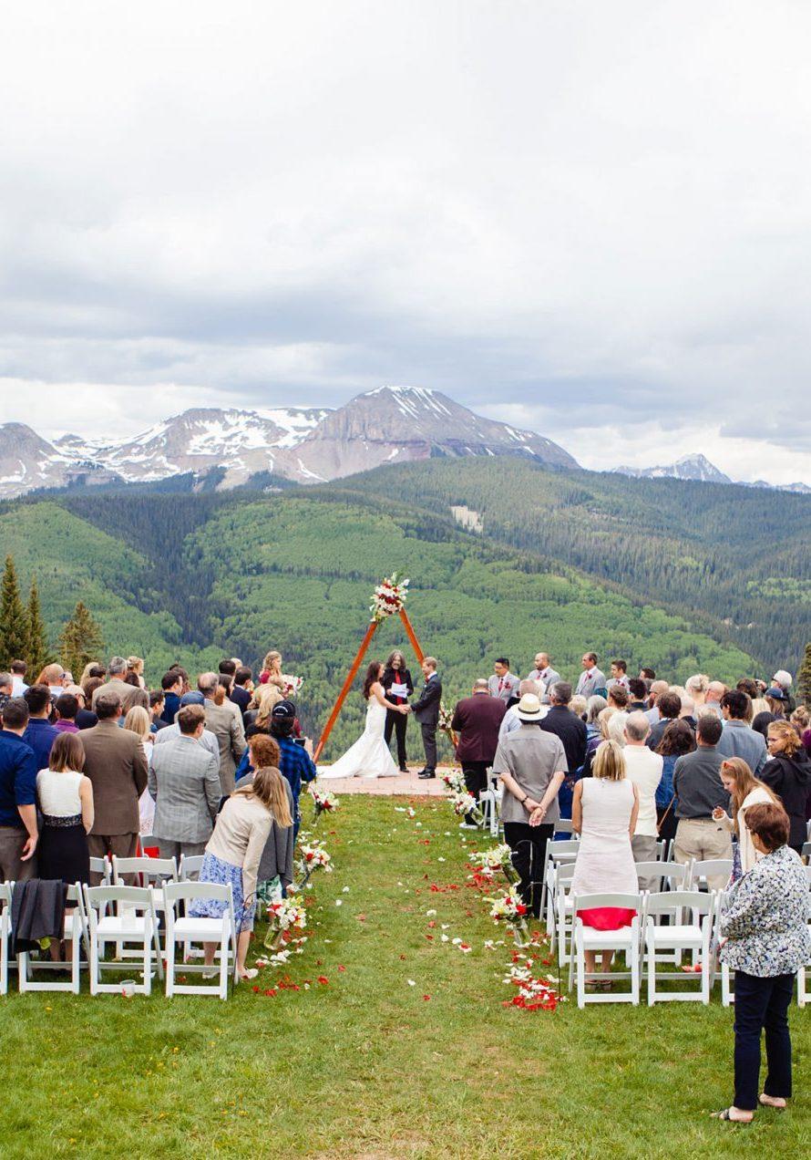 Dante's ceremony site at Purgatory Resort | Durango Weddings Magazine