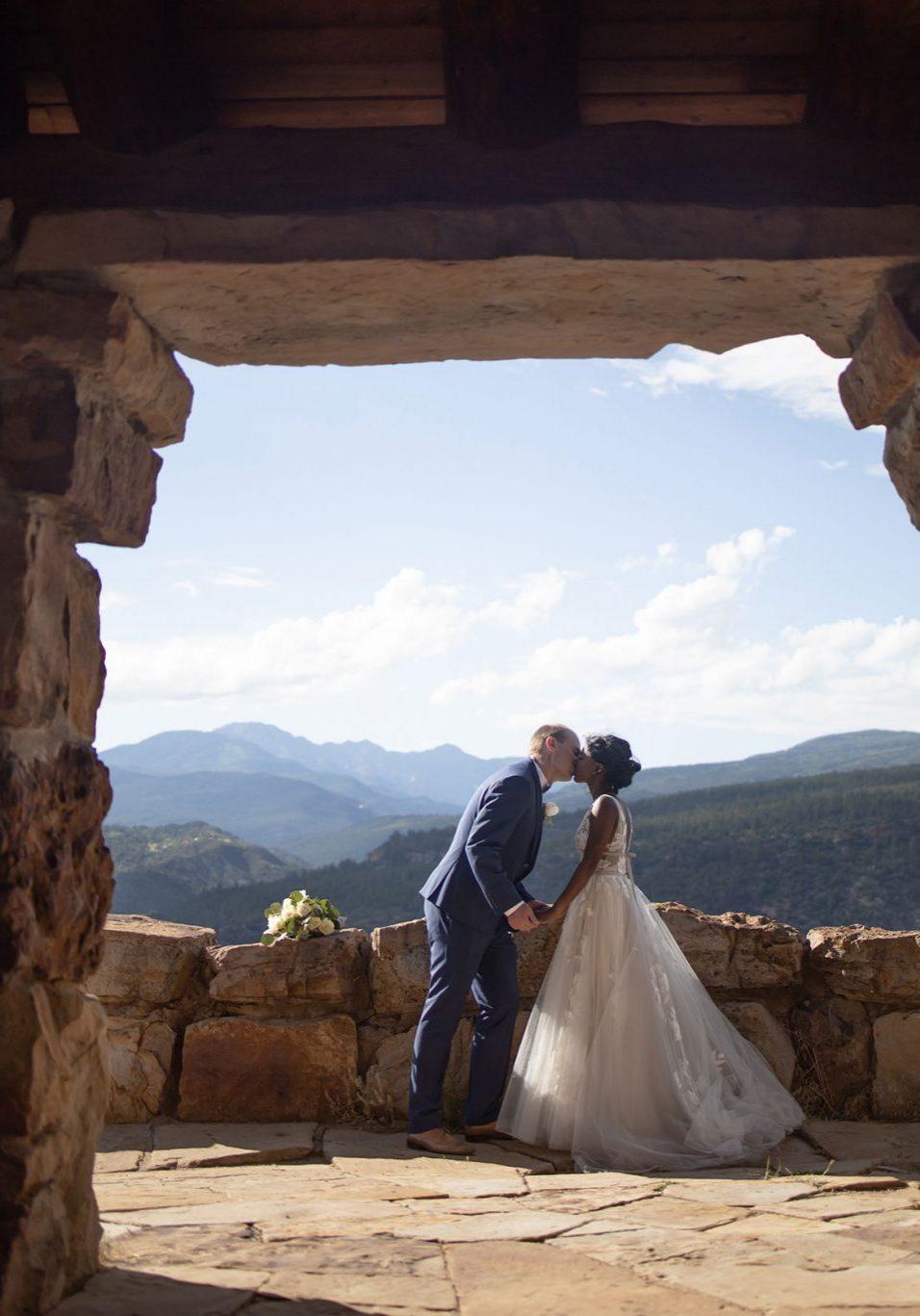 Bride & Groom overlooking Durango, Colorado