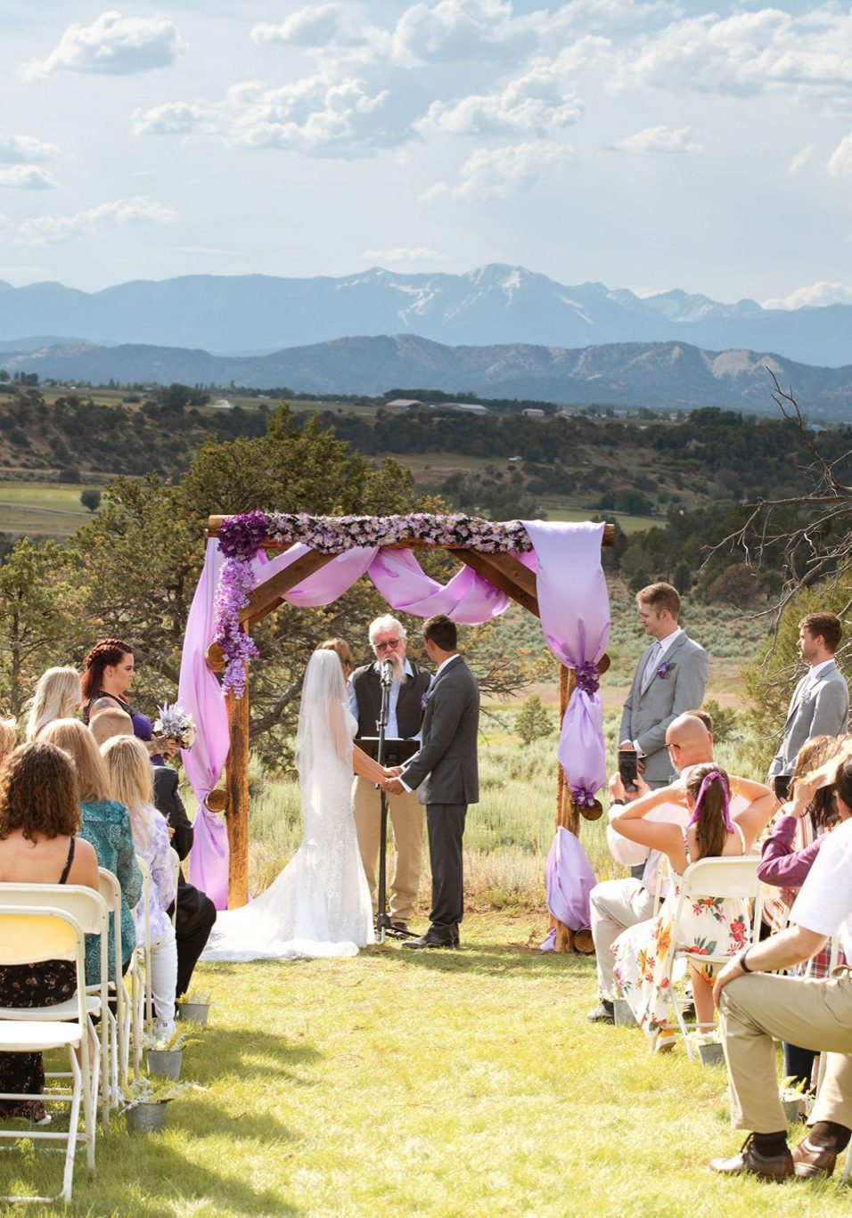 Ceremony at Ridgewood Event Center, Durango Colorado