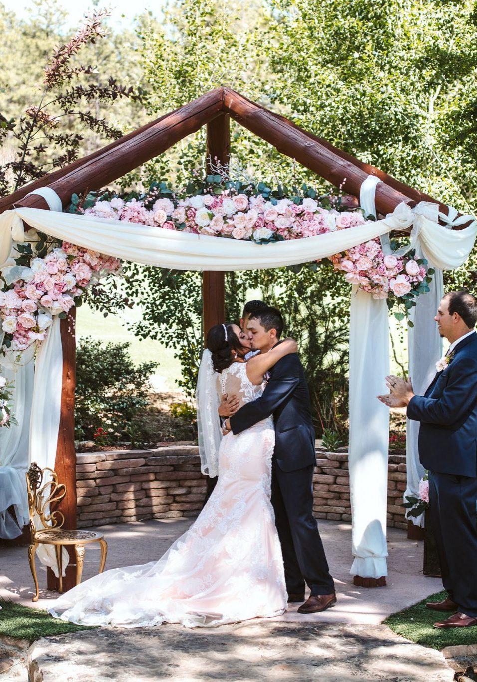Wedding ceremony at Echo Basin Ranch, Durango, Colorado