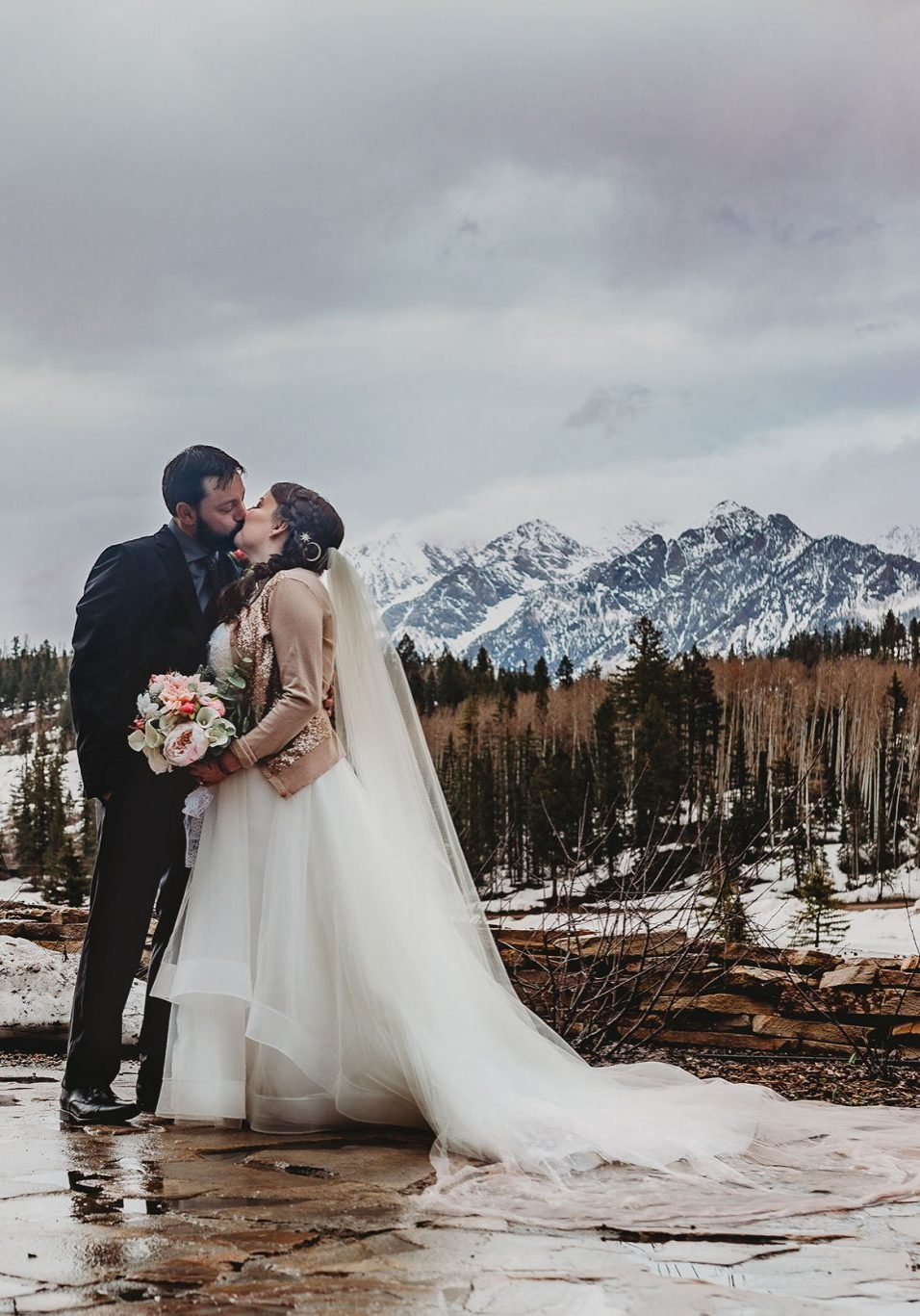 Early Spring wedding in Durango, Colorado